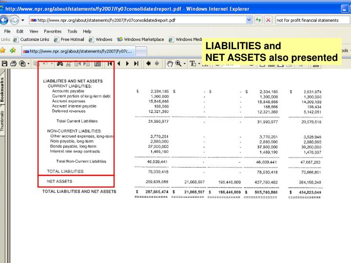 LIABILITIES and