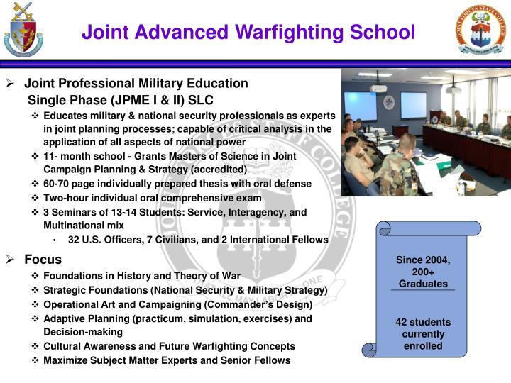 Joint Advanced Warfighting School