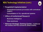ndu technology initiatives cont