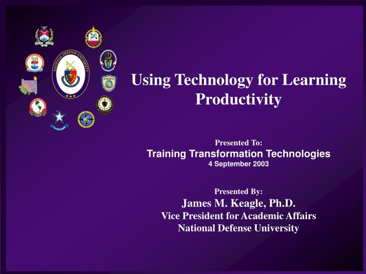 Using Technology for Learning Productivity