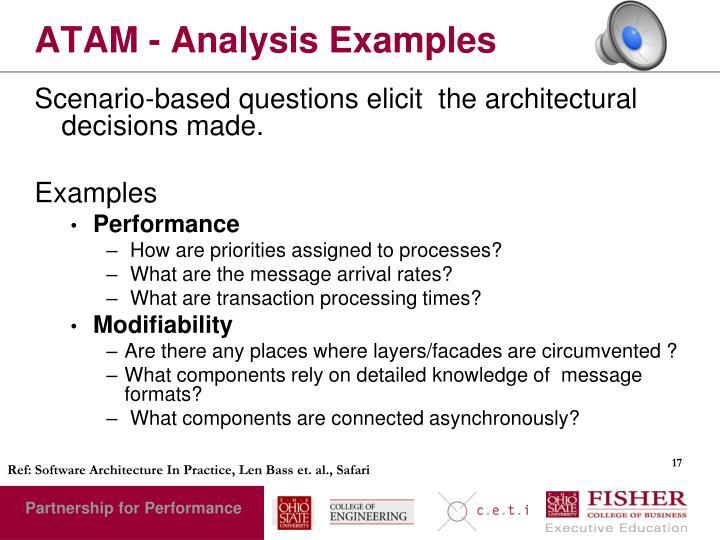 ATAM - Analysis Examples