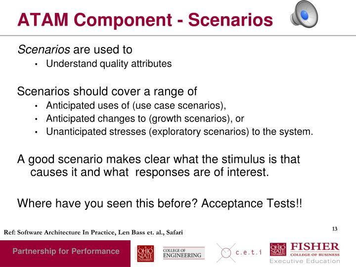 ATAM Component - Scenarios
