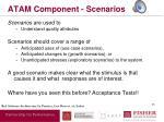atam component scenarios