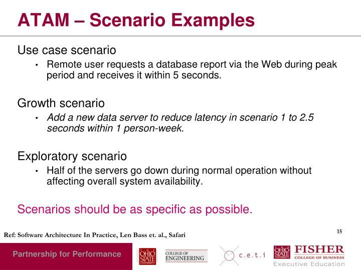 ATAM – Scenario Examples