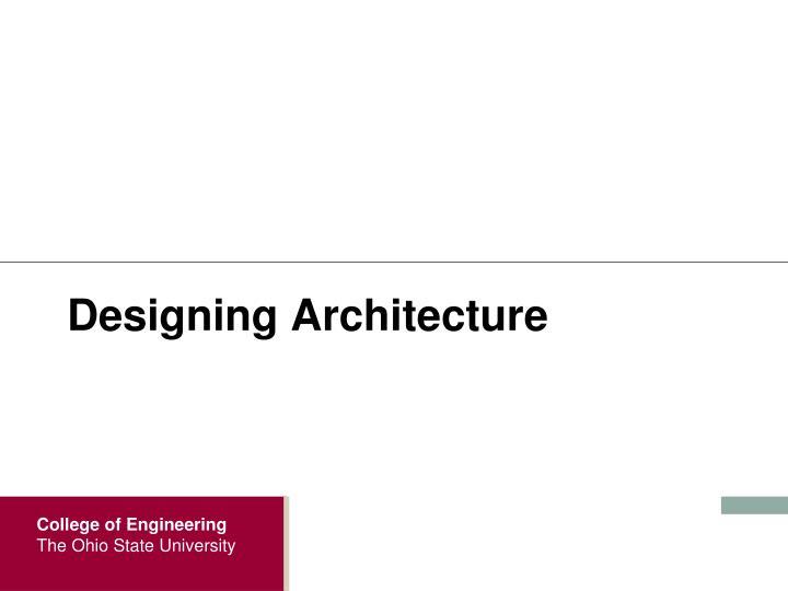 Designing Architecture
