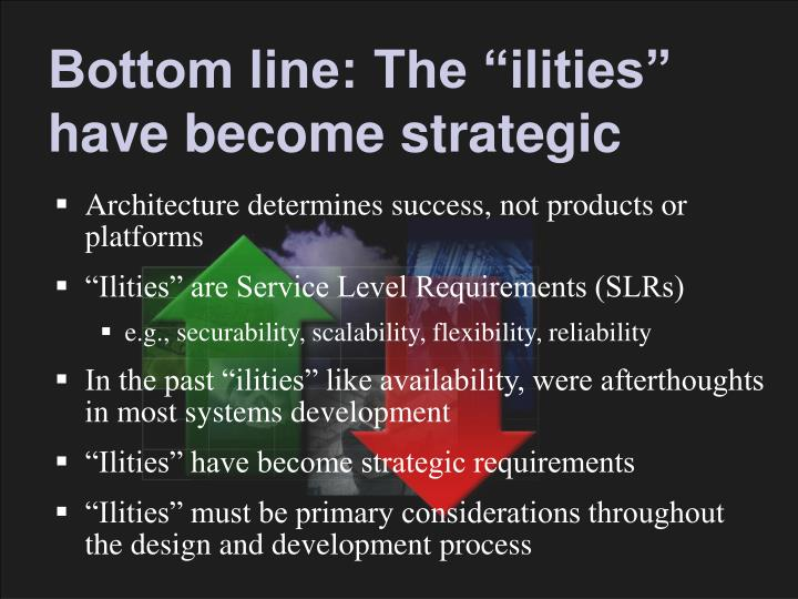 """Bottom line: The """"ilities"""" have become strategic"""