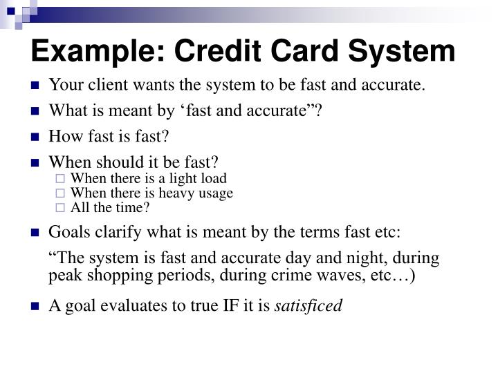Example: Credit Card System