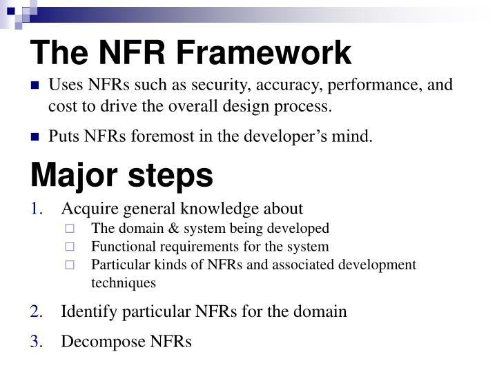 The NFR Framework