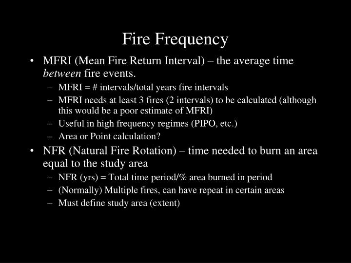 Fire Frequency