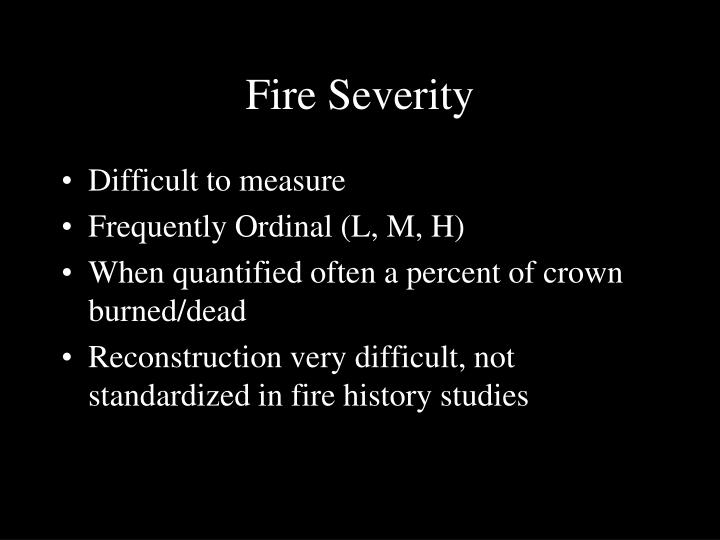Fire Severity