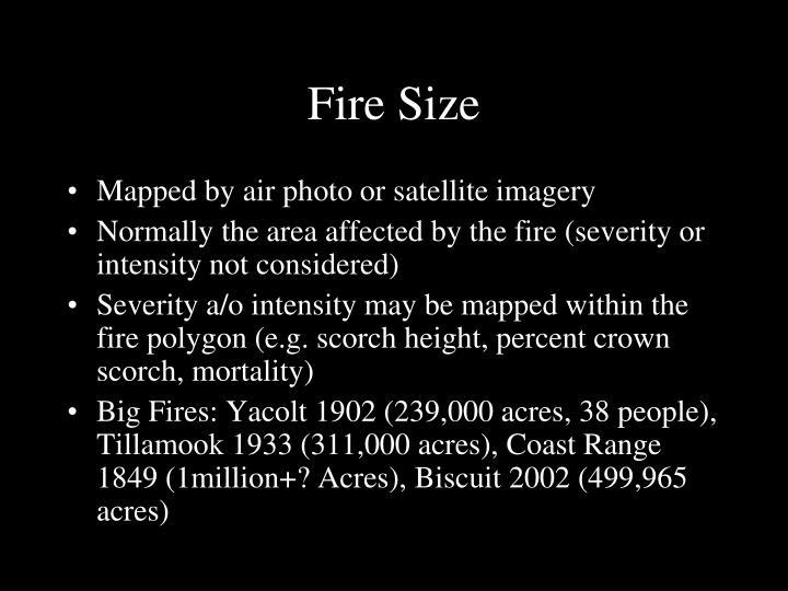 Fire Size