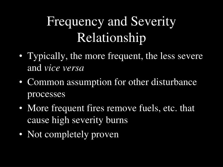 Frequency and Severity Relationship