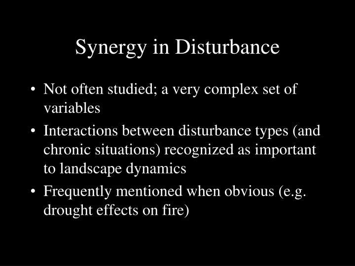 Synergy in Disturbance