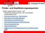 f rder und qualifizierungssequenzen