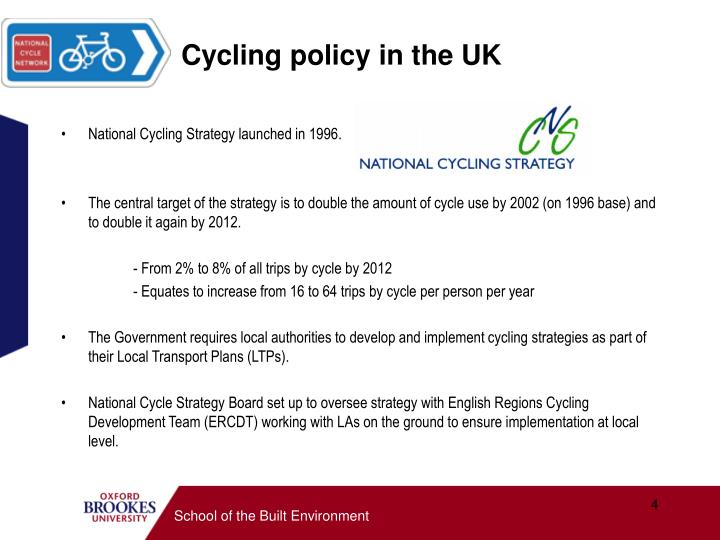 Cycling policy in the UK