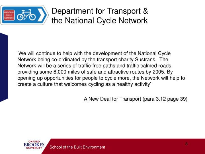 Department for Transport &