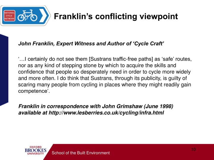 Franklin's conflicting viewpoint