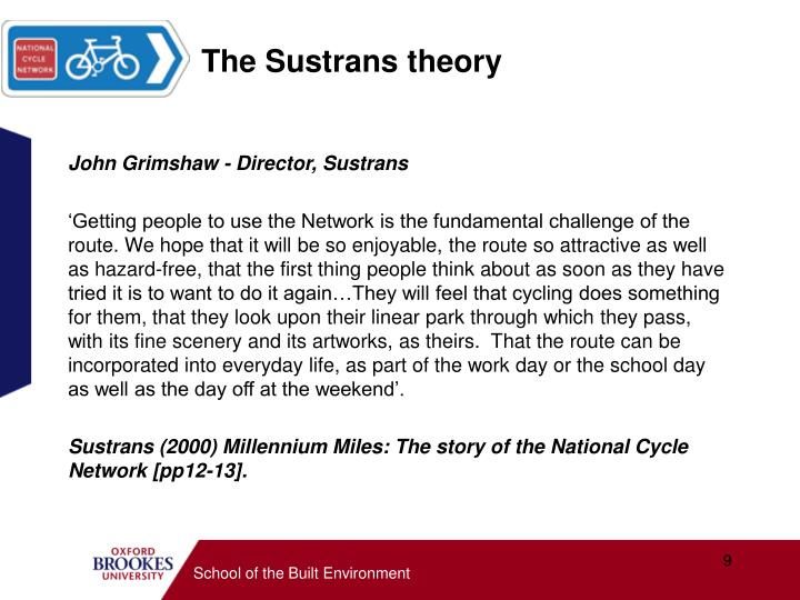 The Sustrans theory