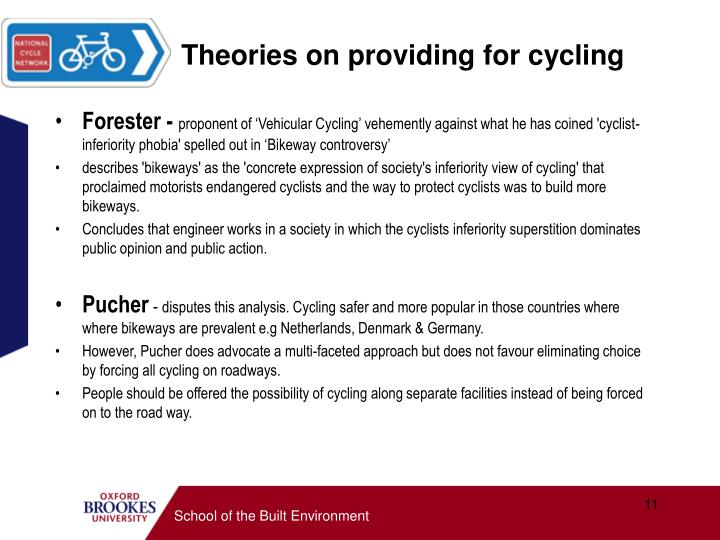 Theories on providing for cycling
