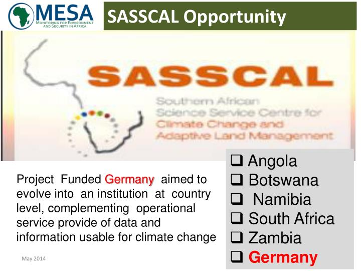 SASSCAL Opportunity