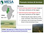 thematic actions services
