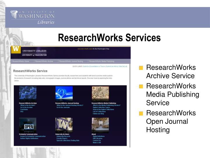 ResearchWorks Services