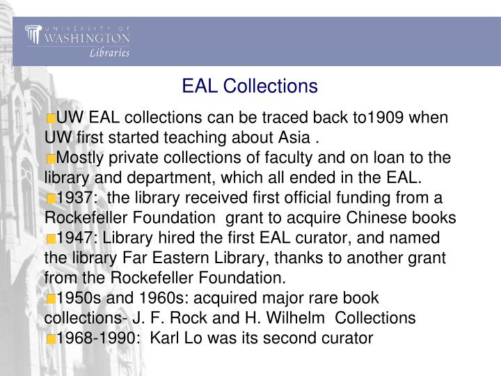 EAL Collections