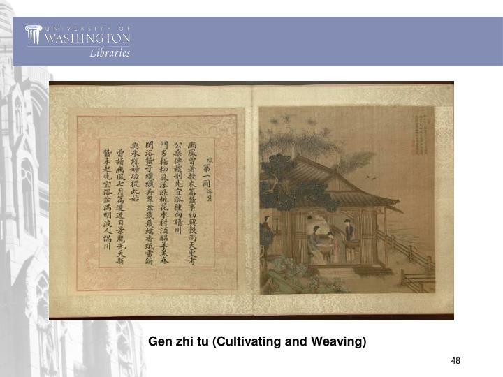 Gen zhi tu (Cultivating and Weaving)
