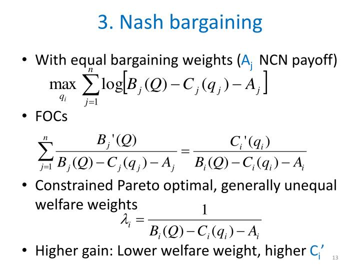 3. Nash bargaining