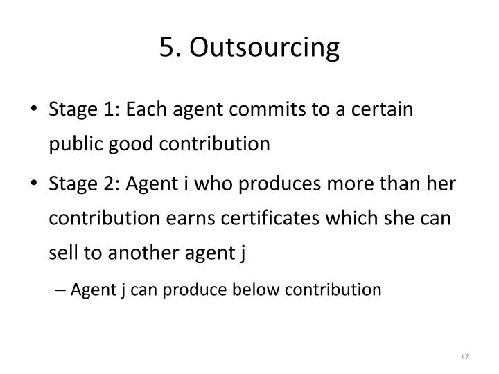5. Outsourcing