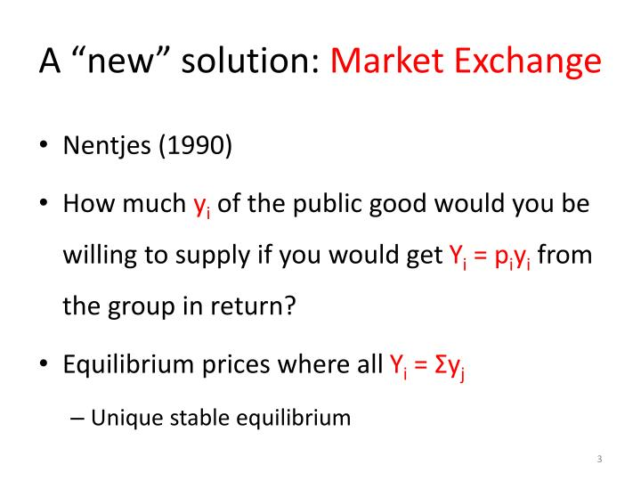 A new solution market exchange