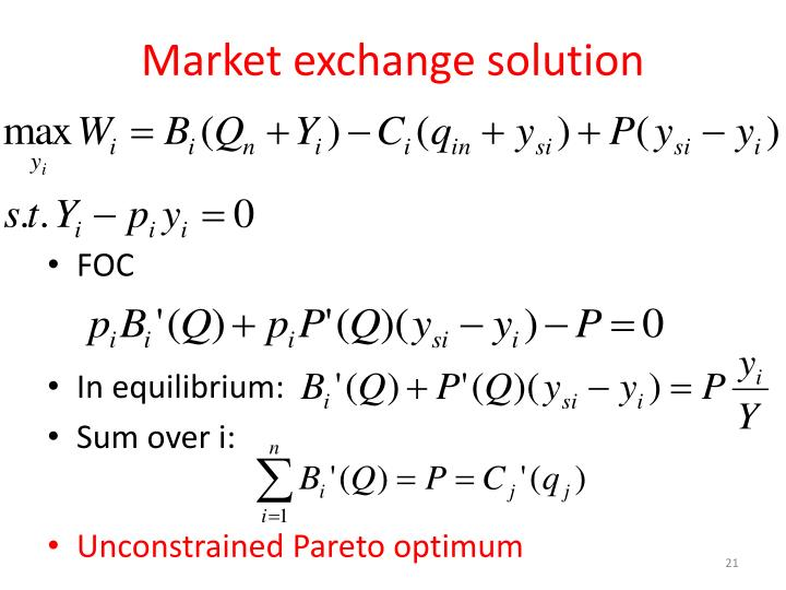 Market exchange solution