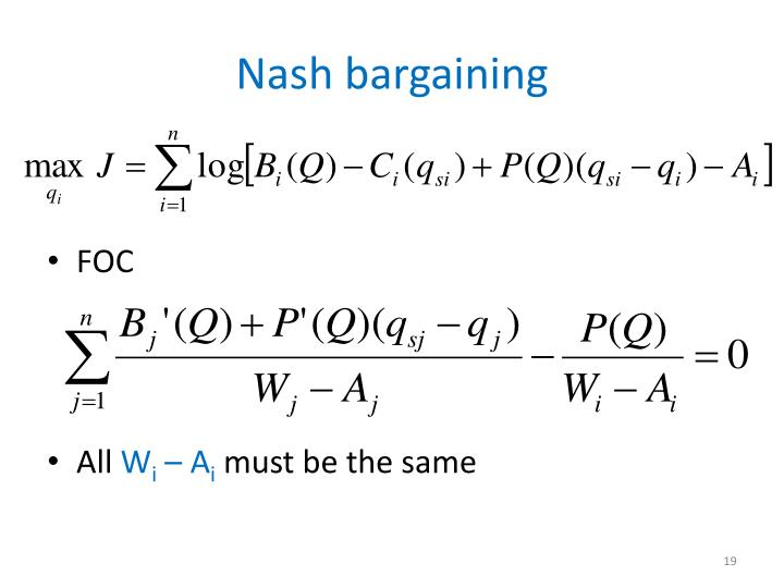 Nash bargaining