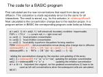 the code for a basic program