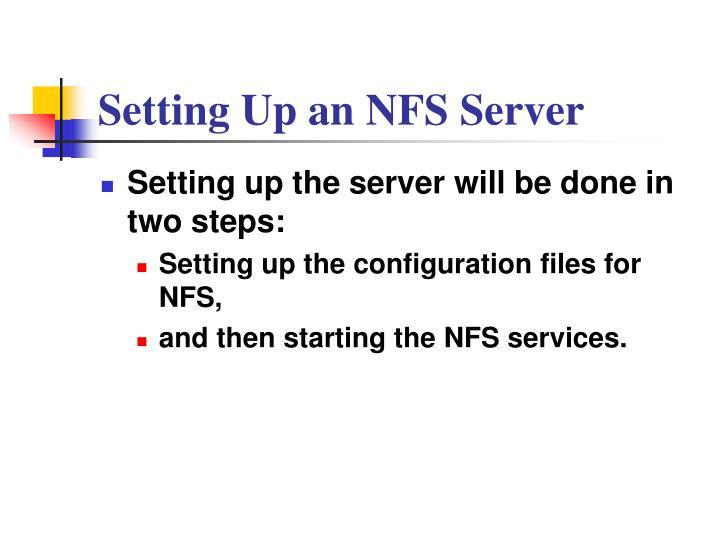 Setting Up an NFS Server