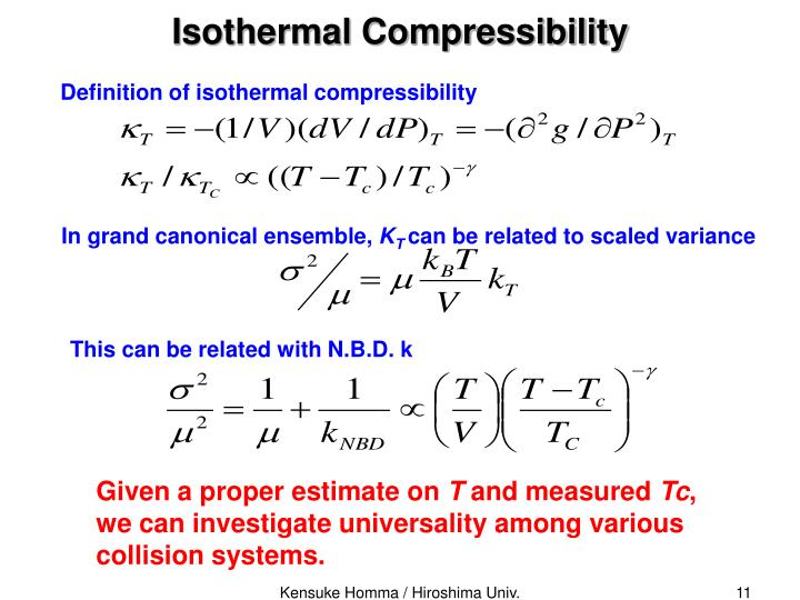 Isothermal Compressibility