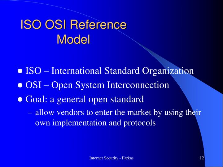 ISO OSI Reference Model
