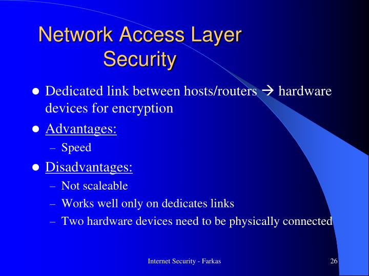 Network Access Layer Security