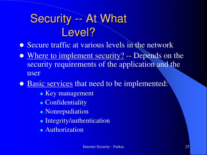 Security -- At What Level?