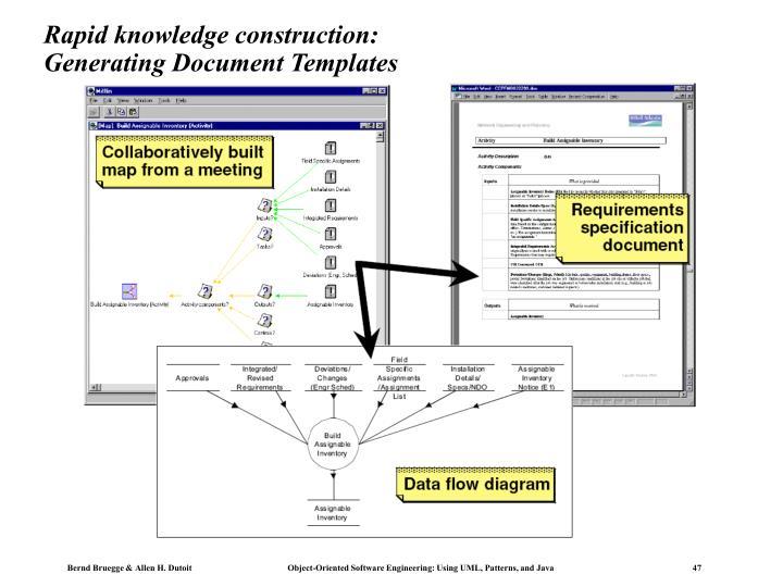 Rapid knowledge construction: