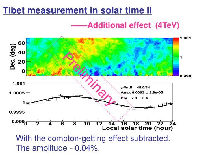 Tibet measurement in solar time II