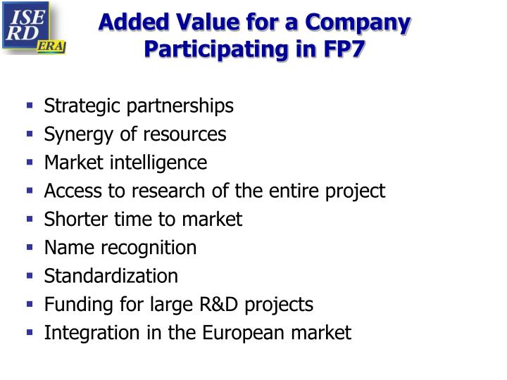 Added Value for a Company