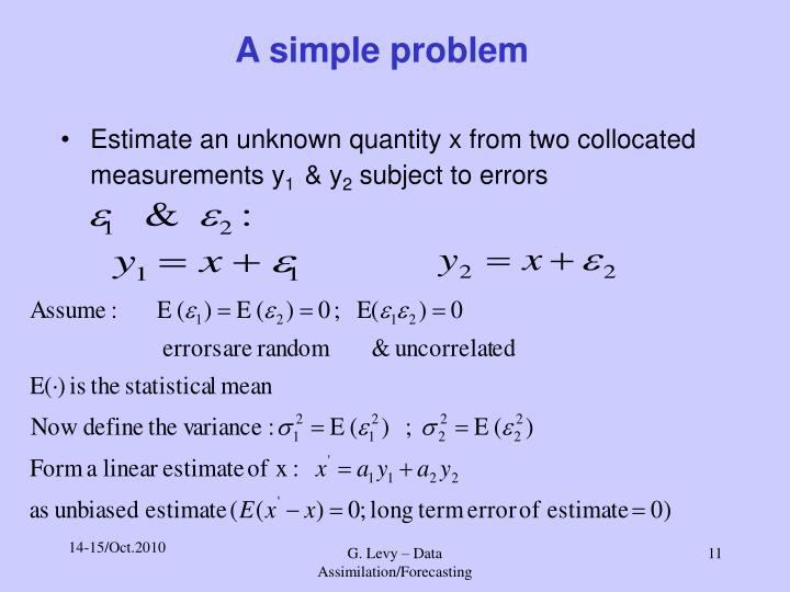 A simple problem