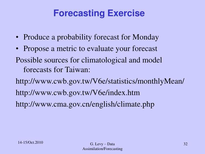 Forecasting Exercise