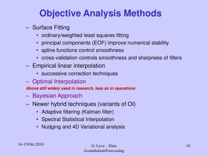 Objective Analysis Methods