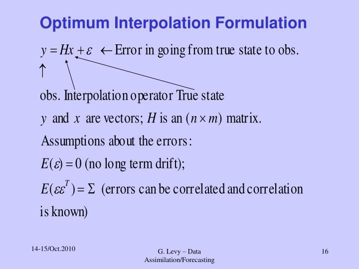 Optimum Interpolation Formulation