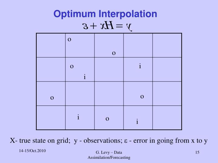 Optimum Interpolation