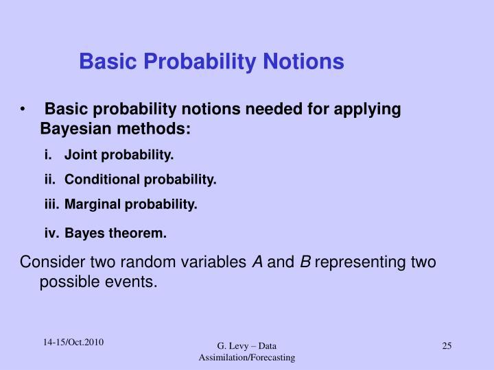 Basic Probability Notions