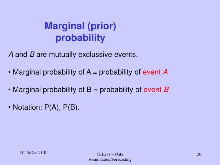 Marginal (prior) probability
