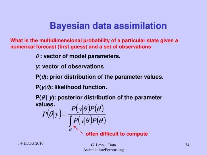 Bayesian data assimilation